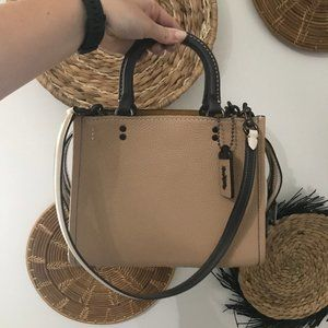 NWT Coach Leather Shoulder Rogue Bag with Dust Bag